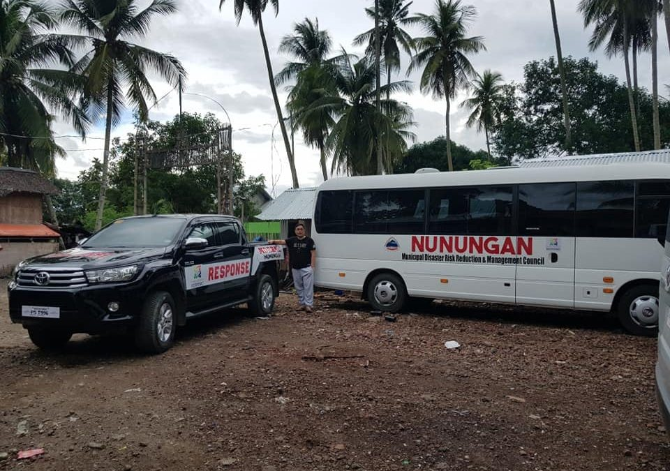 NUNUNGAN ACQUIRES 2 DISASTER RESPONSE VEHICLES